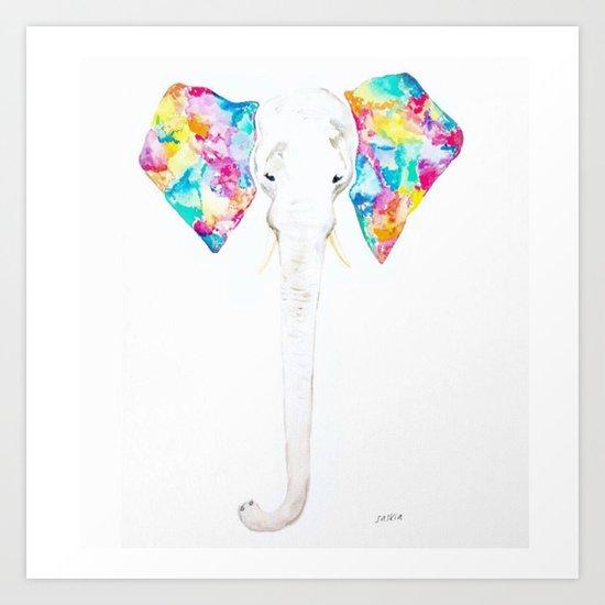 Pastel Ears Art Print