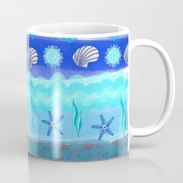 Ocean Theme Zentangle Pattern Coffee Mug