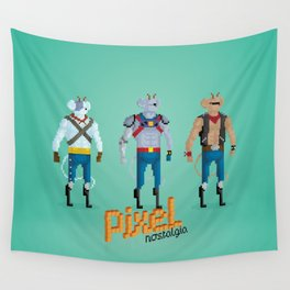 Biker Mice from Mars - Pixel Nostalgia Wall Tapestry
