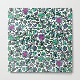 Barca Dots green/pink Metal Print
