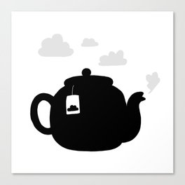 Cloudy pot Canvas Print