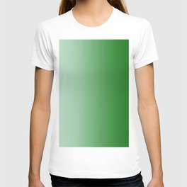 Pastel Green to Green Vertical Linear Gradient T-shirt