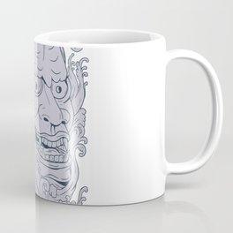 Hannya Mask and Koi Fish Drawing Coffee Mug