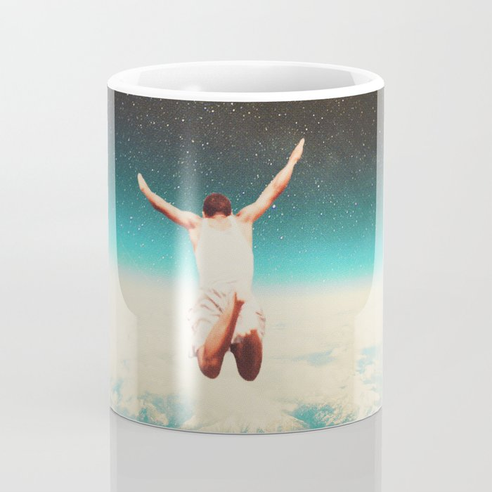 Falling with a hidden smile Coffee Mug