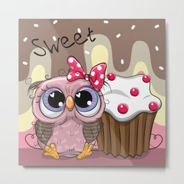 Sweet Owl Metal Print