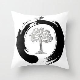 Yggdrasil Norse Cosmology Ash Tree Of Life Good Evil Eternity Zen Throw Pillow