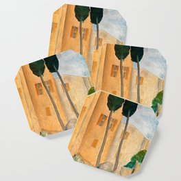 "Amedeo Modigliani ""Cypresses and Houses at Cagnes (Cyprès et maisons à Cagnes)"" Coaster"
