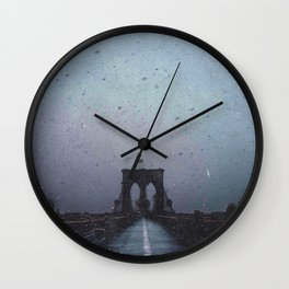 Brooklyn Bridge in the Dark Wall Clock