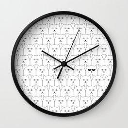 Cat Background #society6 #decor #buyart #artprint Wall Clock