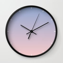 Ombre | Serenity and Rose Quartz | Pantone Colors of the Year 2016 Wall Clock