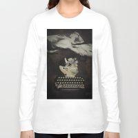 typewriter Long Sleeve T-shirts featuring Typewriter by Tom Melsen