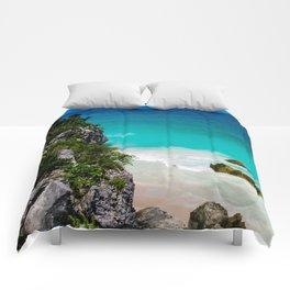 Beaches of Tulum Mexico Comforters