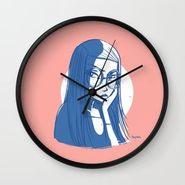 Fussy girl Wall Clock