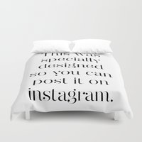 instagram Duvet Covers featuring Instagram by Max Croissant
