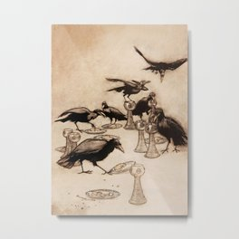 """The Seven Ravens"" by Arthur Rackham From The Grimm Brothers Metal Print"