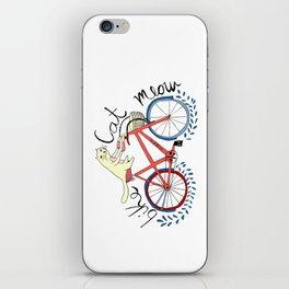 bike,cat, meow iPhone Skin