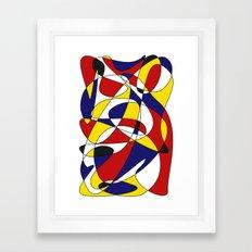 MONDRIAN AND GAUSS Framed Art Print