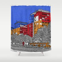 urban Shower Curtains featuring URBAN by Michelito