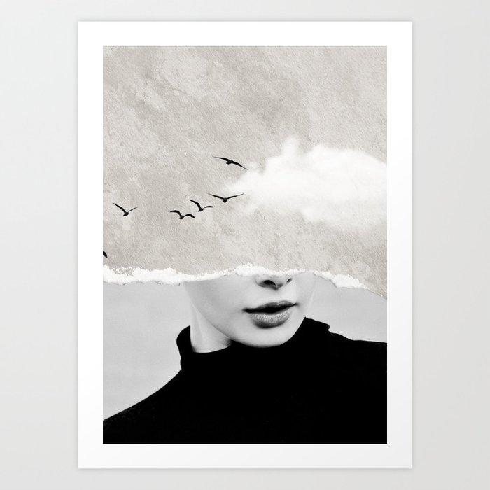 minimal collage /silence Kunstdrucke