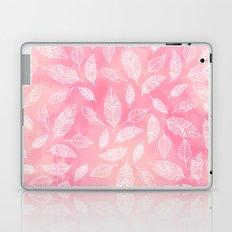 Modern boho hand drawn feathers mandala pink coral watercolor pattern Laptop & iPad Skin