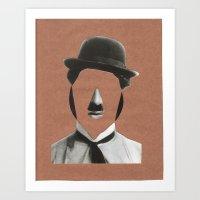charlie chaplin Art Prints featuring Charlie Chaplin by  by albasemmlergonzález