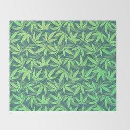 Cannabis / Hemp / 420 / Marijuana  - Pattern Throw Blanket