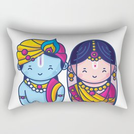 Cute Radha Krishna Rectangular Pillow