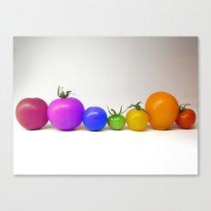 Rainbow Tomatoes Canvas Print