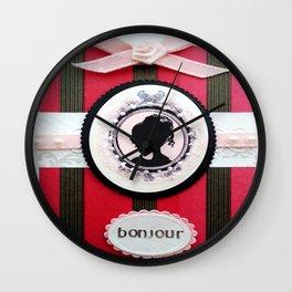 Bonjour Cherie Wall Clock