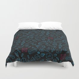 Crystals Pattern Duvet Cover