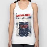 grease Tank Tops featuring American grease by Vorona Photography