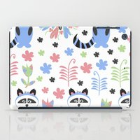 racoon iPad Cases featuring Racoon pattern  by luizavictoryaPatterns