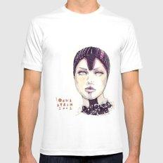Fashion illustration  White Mens Fitted Tee MEDIUM