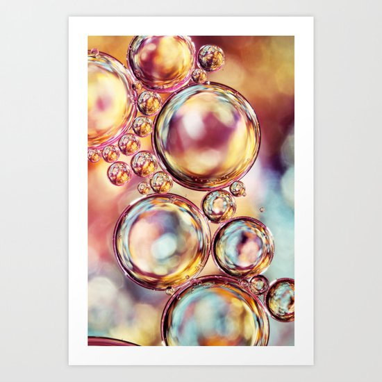 Bokeh Sparkles Bubble Abstract Art Print