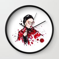 vogue Wall Clocks featuring VOGUE by CARLOS CASANOVA