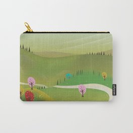 Cartoon hilly landscape Carry-All Pouch