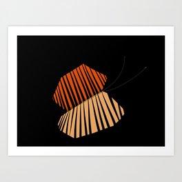 A Butterfly Dreaming I Am a Man Art Print