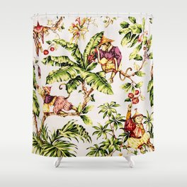 Finely Dressed Monkeys Shower Curtain