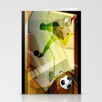 soccer Stationery Cards featuring Soccer by Robin Curtiss