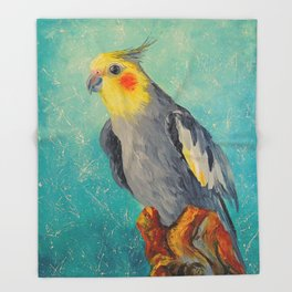 Corella parrot Throw Blanket