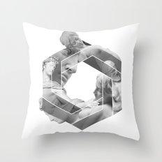 Love optical illusion Throw Pillow