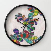 dr seuss Wall Clocks featuring Dr. Seuss 3 by Sarah J Bierman