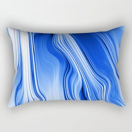 Streaming Blues Rectangular Pillow