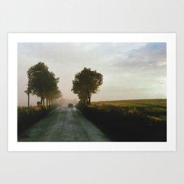 Drive into the Mist Art Print