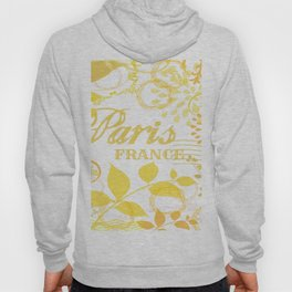 Paris France Yellow Vintage Print Hoody