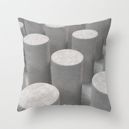 Concrete with cylinders Throw Pillow