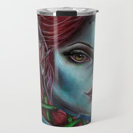 Apocolpyse Alien Girl Fantasy Art by Laurie Leigh Travel Mug