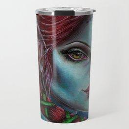 Apocolpyse Alien Girl Fantasy Art by Laurie Leigh Travel Mug