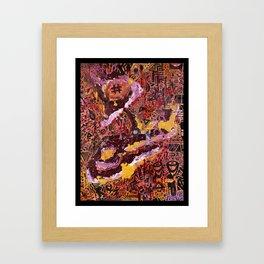 Swarming Social Unrest Framed Art Print