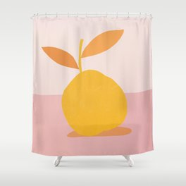 Abstraction_PEAR_PAINTING Shower Curtain